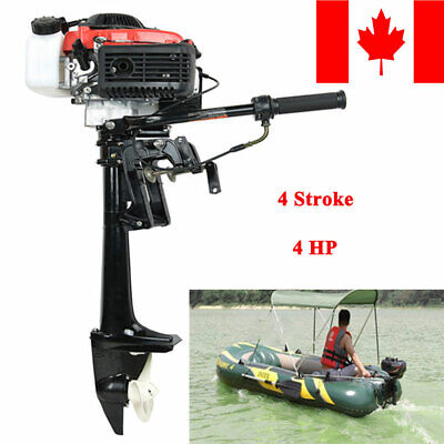 4Stroke 4HP Heavy Duty Outboard Motor 38CC Boat Engine W/ Air Cooling System CAN