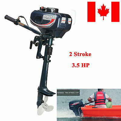 2Stroke 3.5HP Heavy Duty Outboard Motor Boat Engine W/ Water Cooling System CAN