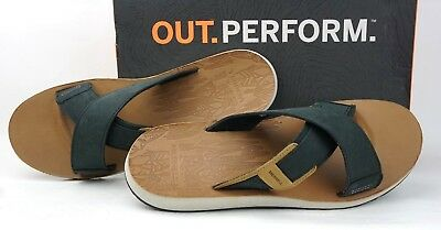 8401d487d440 Merrell Men s Duskair Slide Leather Sandals J71145-Black Men s Sz13M US ...