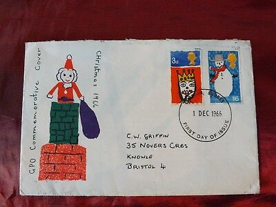 GPO commemorative Christmas 1966 first day cover stamps