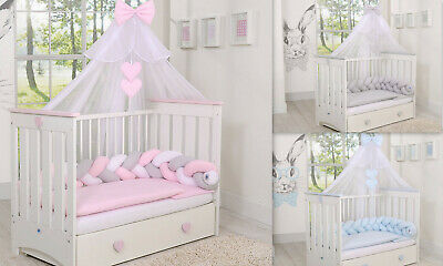 STUNNING  CANOPY  DRAPE/ MOSQUITO NET  -BIG 470cm WIDTH 4 baby Cot or Cot bed