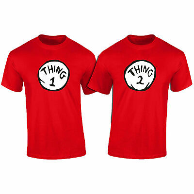 Thing 1 Thing 2 of TWO/Matching Fancy Dress T-Shirts Unisex Gift