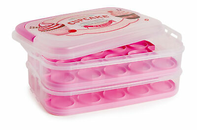 Snips Cupcake Holder/Carrier/Container 14L - Holds 28 Cupcakes/Muffins