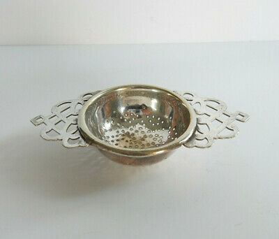 Antique English Silverplated Tea Strainer Afternoon Tea