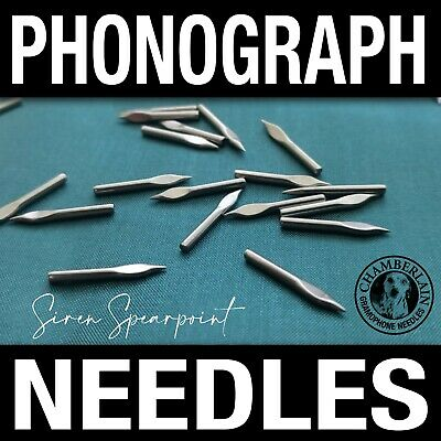 100 Speartip VICTOR VICTROLA NEEDLES for Vintage Shellac Gramophone Records