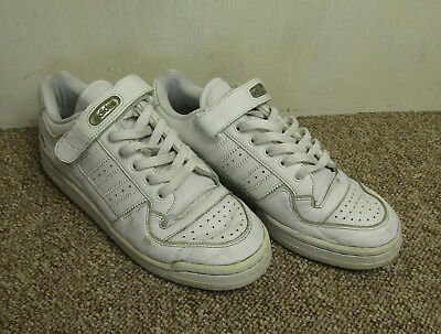 194afe503b6522 White Adidas Forum Lo Trainers Sneakers UK 8.5 Laces   Strap Basketball