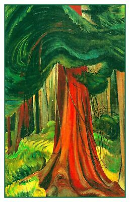 Emily Carr McCaulay Point BC  Landscape Counted Cross Stitch Chart Pattern