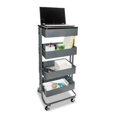 Vertiflex Multi-Use Storage Cart/Stand-Up Workstation, Gray (VRTVF51025)