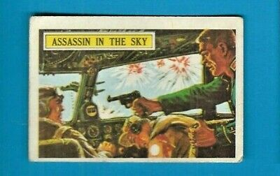 1965 A&bc (Not Topps) Battle Cards British  #46 Assassin In The Sky-- Creased