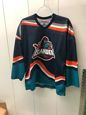 New York Islanders Fisherman Ccm Jersey Xl Vintage Alternate 3rd