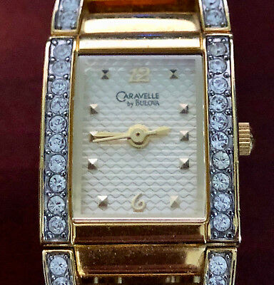 Caravelle By Bulova Swarovski Crystal Accented  45L95 - Women's Watch