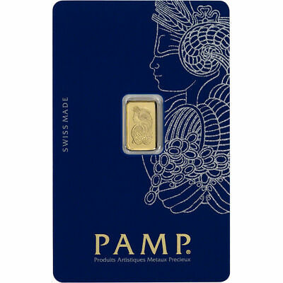 PAMP Suisse 1 Gram .9999 Gold Bar Fortuna Sealed With Assay Certificate
