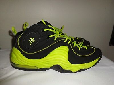 2012 Nike Air Penny II Le BLACK CYBER green volt shoes size 12 ( 535600 003 101e5d2c9