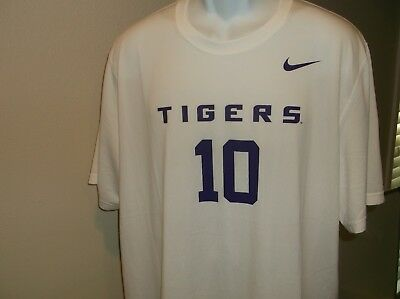 48ee7d3f4 LSU TIGERS NIKE Mike the Tiger Mascot Jersey Shirt Adult 2XL nwt ...