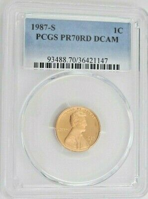 1987 S Proof Lincoln Memorial Cent - PCGS PR 70 RD DCAM Red Deep Cameo (1147)