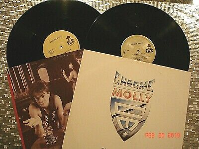 "CHROME MOLLY  2 LP LOT  ""Thanx for the Angst & Shooting Me Down"" UK Pressings"