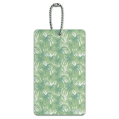 Palm Tree Leaves Luggage Card Suitcase Carry-On ID Tag