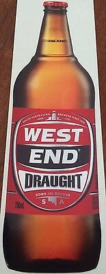 West End Draught - Vinyl Decal/Sticker 24.5cm x 8cm