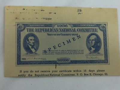 1936 Republican National Party Campaign Advertisement Lincoln 26210
