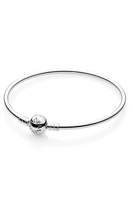 Authentic Pandora Silver Bangle Bracelet #590713 19Cm 7.5 In 21Cm
