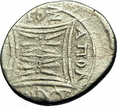 APOLLONIA in ILLYRIA Authentic Ancient 208BC Silver Greek Coin COW CALF  i76126