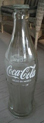 "Circa 1960's Mexico Coca-Cola 20"" glass display bottle with cap"