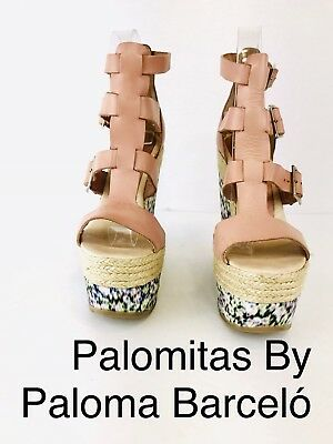 b74878fce1e Palomitas by Paloma Barcelo Ester Espadrille Wedge Pale Pink And Floral  Size 37