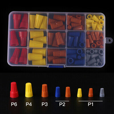 158Pcs Wire Connector Twist Electrical Nut Spring Cap Assortment Set  22-10AWG