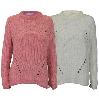 4bad61e95 Ladies Chenille Jumper Brave Soul Womens Cable Knitted HANCOCK Crew Neck  Winter