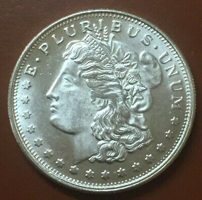 """Morgan Dollar"" Vintage One 1 Troy Oz Ounce .999 Silver Coin Art"