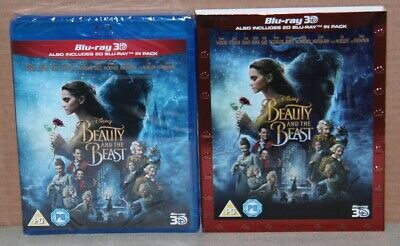 Disney's Beauty and the Beast (Blu-ray 3D/2D, 2017) Brand New, Sealed, Slipcover