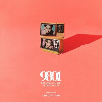 WOOSEOK X KUANLIN - 9801 (1st Mini Album) CD+Booklet+Folded Poster+Tracking no.