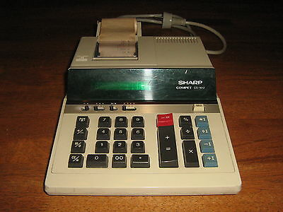 Vintage Collectable Calculator Sharp Compet Cs1612 Green Led Display