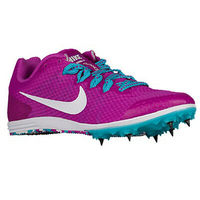 new products 7e494 326b5 Neuf pour Femmes Nike Zoom Rival D 9 Piste Chaussures Hyper Violet Blanc