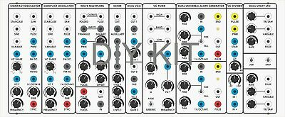 Bocgs Bog Serge Panel Analog Synthesizer+Power Supply Diy Kit By Elby Designs