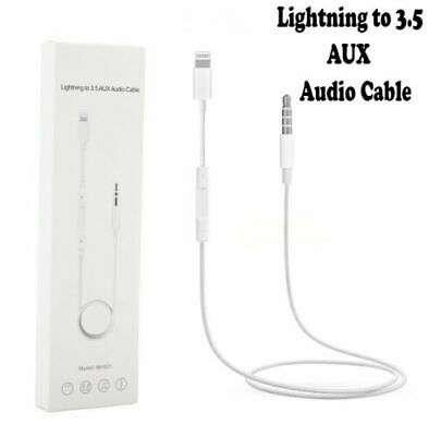 For Apple iPhone Lightning to 3.5mm Jack Car AUX Audio Adapter Cable Lot