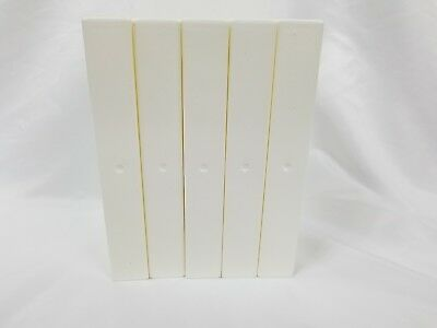 5 NEW White VHS Tape Storage Cases Clamshell W Sleeves with Hub RARE WHITE OK!