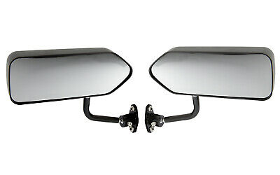 Motamec Racing 03 Formula Side Wing Mirror x2 Convex Glass MATT BLACK - F1 Car