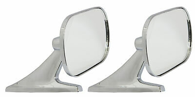 Motamec Classic Car 10 Side Door Wing Mirror x2 Chrome Steel Square