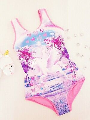 Unicorn Girls Swimming Suit Costume Bath Beach Holiday Size 4-5 Years