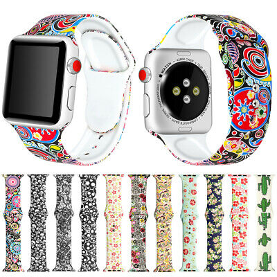 For Apple Watch iWatch 1/2/3/4 Sport Silicone Band Bracelet Watch Strap 42/44mm