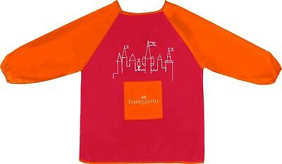 Childs Painting Apron/Smock by Faber Castell One Size 6-10 Years Long Sleeves