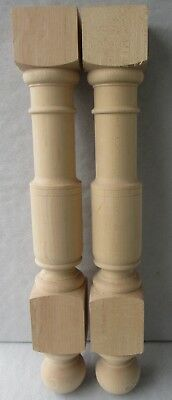 """2 Chunky New Unfinished Solid Maple Posts Columns Table Legs  26 3/4"""" X  3 3/4"""""""