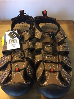 3b53e174b8e6 MENS EDDIE BAUER Tommy Brown Grey Leather Bump Toe Shoes Sandals 9 ...