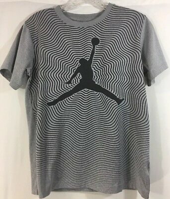 new product 0ea29 9b37b Nike Air Jordan Dri-Fit Jumpman Graphic Short Sleeve T-shirt Youth Large  Gray