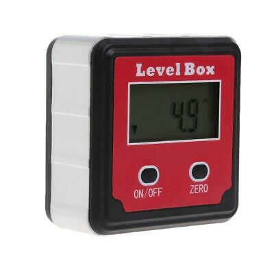 LCD Digital Inclinometer Angle Finder Bevel Level Box Protractor Magnetic Red