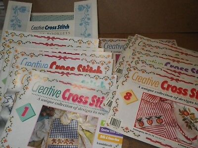 20 Creative Cross Stitch Booklets & Storage Box : Charts, Designs, Alphabets