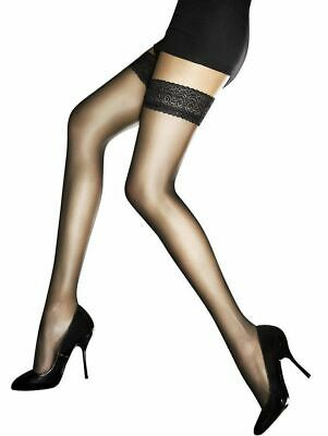 Fiore Edith 8 Denier Lace Top Hold Up Stockings
