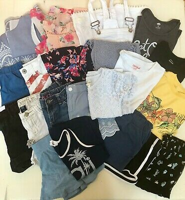 cae5250636d7 HUGE 21pc LOT of Spg/Summer Girls 7/8 clothing Justice H&M GAP Children's