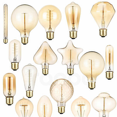 Retro LED Carbon Filament Edison Bulb Light Lamp E27 40W Decor Warm White RT735